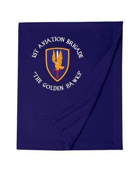 1st Aviation Brigade (C) Embroidered Dryblend Stadium Blanket
