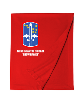 "172nd Infantry Brigade ""Snow Hawks""  Embroidered Dryblend Stadium Blanket"