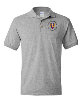 1st Aviation Brigade (C) Embroidered Cotton Polo Shirt