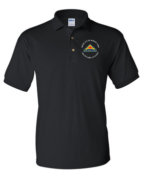 United States 7th Army  (C) Embroidered Cotton Polo Shirt