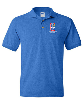 """172nd Infantry Brigade """"Snow Hawks"""" Embroidered Cotton Polo Shirt"""