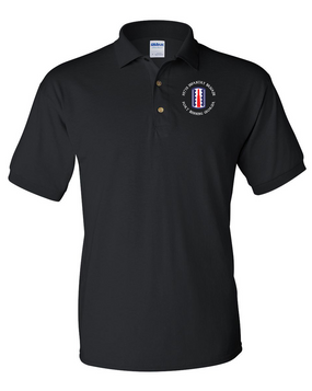 197th Infantry Brigade (C)  Embroidered Cotton Polo Shirt