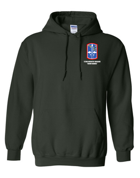 "172nd Infantry Brigade ""Snow Hawks"" Embroidered Hooded Sweatshirt"