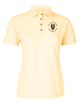 1st Aviation Brigade (C)  Ladies Embroidered Moisture Wick Polo Shirt