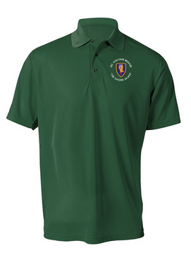 1st Aviation Brigade (C)  Embroidered Moisture Wick Polo  Shirt
