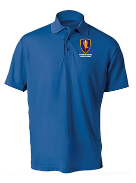 1st Aviation Brigade Embroidered Moisture Wick Polo  Shirt