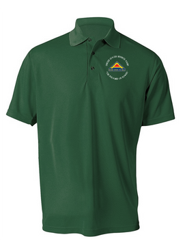 United States 7th Army (C)  Embroidered Moisture Wick Polo  Shirt