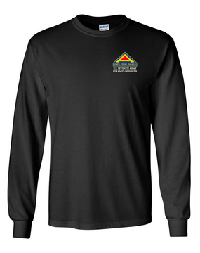 United States 7th Army Long-Sleeve Cotton T-Shirt