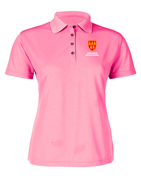 32nd Army Air Defense Command Ladies Embroidered Moisture Wick Polo Shirt