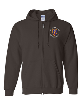 1st Aviation Brigade (C)  Embroidered Hooded Sweatshirt with Zipper