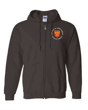 32nd Army Air Defense Command  (C) Embroidered Hooded Sweatshirt with Zipper