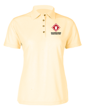 20th Engineer Brigade Ladies Embroidered Moisture Wick Polo Shirt