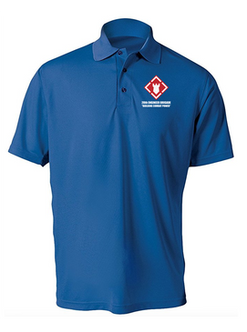 20th Engineer Brigade Embroidered Moisture Wick Polo  Shirt