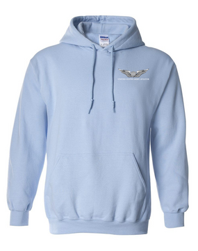 US Army Aviator Embroidered Hooded Sweatshirt