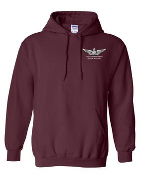US Army Senior Aviator Embroidered Hooded Sweatshirt