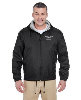 US Army Senior Aviator Embroidered Fleece-Lined Hooded Jacket