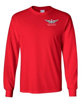 US Army Senior Aviator Long-Sleeve Cotton T-Shirt