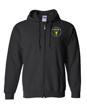 US Special Operations Command  Embroidered Hooded Sweatshirt with Zipper