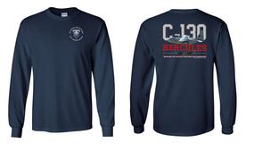 "82nd Hqtrs & Hqtrs Battalion ""C-130"" Long Sleeve Cotton Shirt"