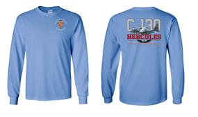 """319th Airborne Field Artillery Regiment  """"C-130"""" Long Sleeve Cotton Shirt"""