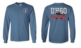 "187th Infantry Regiment   ""UH-60"" Long Sleeve Cotton Shirt"