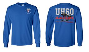 """2-501st Parachute Infantry Regiment  """"UH-60"""" Long Sleeve Cotton Shirt"""