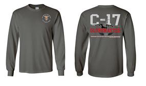"82nd Signal Battalion ""C-17 Globemaster""  Long Sleeve Cotton Shirt"