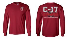 "307th Combat Engineer Battalion (Airborne) ""C-17 Globemaster""  Long Sleeve Cotton Shirt"