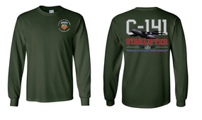 """3-73rd Armor (Airborne) """"C-141 Starlifter"""" Long Sleeve Cotton Shirt"""