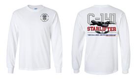 """82nd Aviation Brigade """"C-141 Starlifter"""" Long Sleeve Cotton Shirt"""