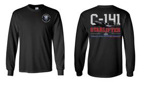"82nd Hqtrs & Hqtrs Battalion ""C-141 Starlifter"" Long Sleeve Cotton Shirt"