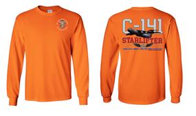 """82nd Signal Battalion """"C-141 Starlifter"""" Long Sleeve Cotton Shirt"""