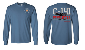 "313th MI Battalion (Airborne)  ""C-141 Starlifter"" Long Sleeve Cotton Shirt"