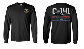 "407th Brigade Support Battalion  ""C-141 Starlifter"" Long Sleeve Cotton Shirt"