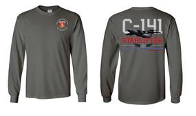 """782nd Maintenance Battalion """"C-141 Starlifter"""" Long Sleeve Cotton Shirt"""