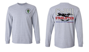 "US Army Civil Affairs & Psyops Command ""C-141 Starlifter"" Long Sleeve Cotton Shirt"