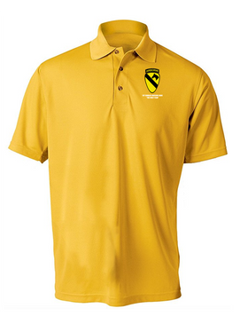 1st Cavalry Division (Airborne)  Embroidered Moisture Wick Polo  Shirt