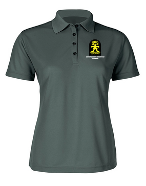 509th Parachute Infantry Regiment Ladies Embroidered Moisture Wick Polo Shirt