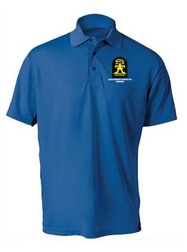 509th Parachute Infantry Regiment Embroidered Moisture Wick Polo  Shirt