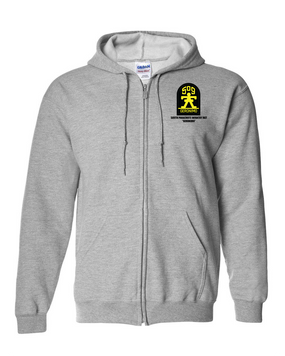509th Parachute Infantry Regiment Embroidered Hooded Sweatshirt with Zipper