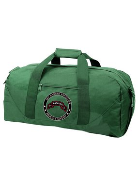"""3-75th Ranger Battalion  """"Proudly Served"""" Embroidered Duffel Bag"""