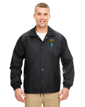 Triple Canopy Embroidered Windbreaker