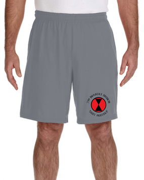 7th Infantry Division Embroidered Gym Shorts