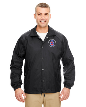 10th Mountain Division Embroidered Windbreaker