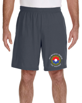 9th Infantry Division Embroidered Gym Shorts