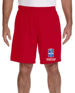 "172nd Infantry Brigade ""Blackhawk""  Embroidered Gym Shorts"