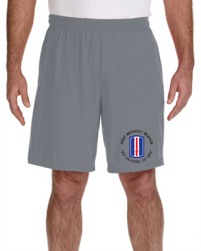 193rd Infantry Brigade Embroidered Gym Shorts