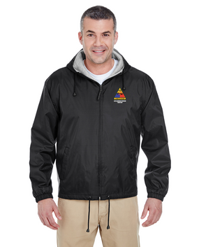 49th Armored Division Embroidered Fleece-Lined Hooded Jacket