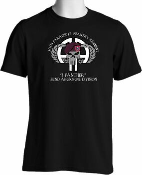 "3-505th  ""3 Panther""  Cotton Shirt"