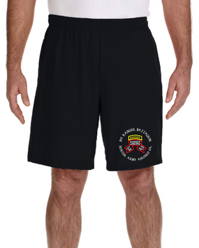 1-75 Ranger Battalion-Original Scroll-Tab Embroidered Gym Shorts